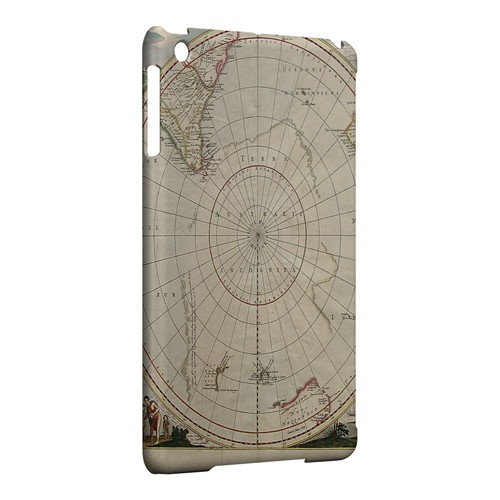 Terra Australis Incognita - Geeks Designer Line Map Series Hard Case for Apple iPad Mini