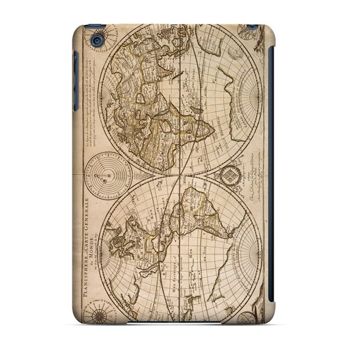 Carte Generale du Monde 1676 - Geeks Designer Line Map Series Hard Case for Apple iPad Mini