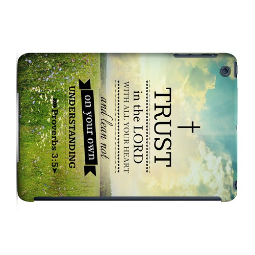 Proverbs 3:5 - Geeks Designer Line Bible Series Hard Case for Apple iPad Mini