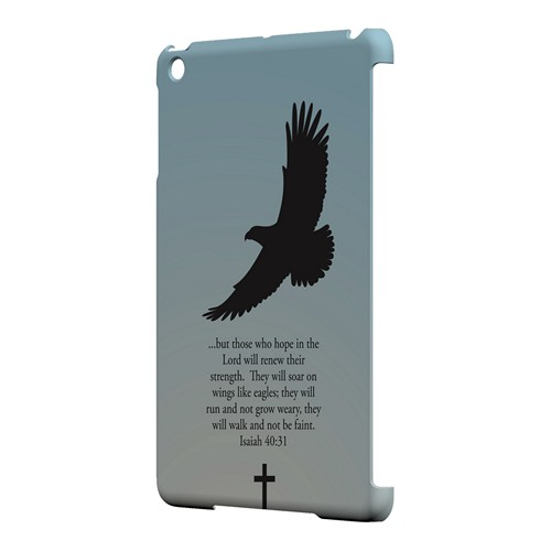 Isaiah 40:31 - Faint Blue - Geeks Designer Line Bible Series Hard Case for Apple iPad Mini