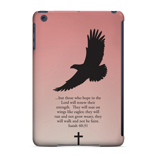 Isaiah 40:31 - Wisp Pink - Geeks Designer Line Bible Series Hard Case for Apple iPad Mini
