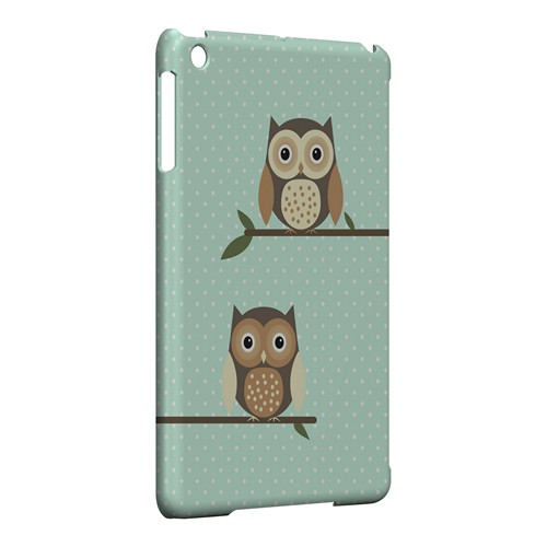 Retro Owls on Polka Dots - Geeks Designer Line Owl Series Hard Case for Apple iPad Mini