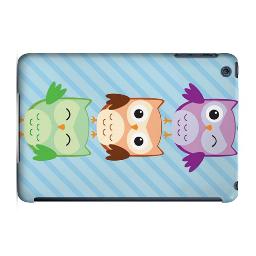 Happy Owl Pals - Geeks Designer Line Owl Series Hard Case for Apple iPad Mini