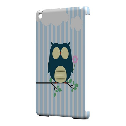 Fat Peaceful Owl on Tree Branch - Geeks Designer Line Owl Series Hard Case for Apple iPad Mini