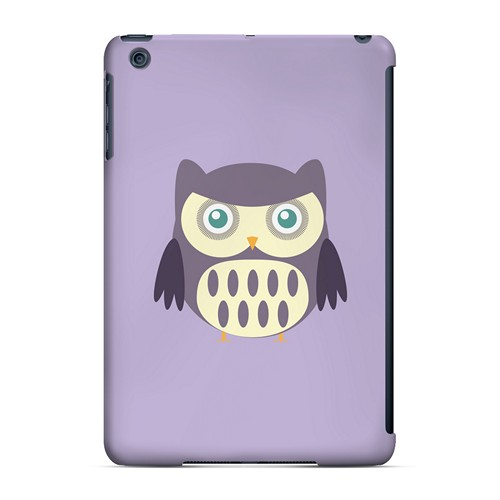 Chubby Purple Owl - Geeks Designer Line Owl Series Hard Case for Apple iPad Mini