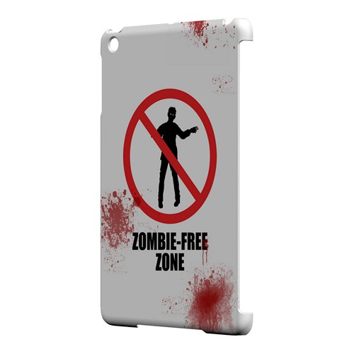Zombie-Free Zone - Geeks Designer Line Apocalyptic Series Hard Case for Apple iPad Mini