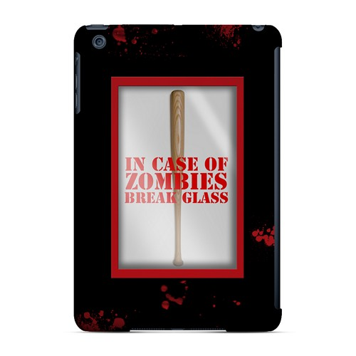 In Case of Zombies Break Glass - Geeks Designer Line Apocalyptic Series Hard Case for Apple iPad Mini