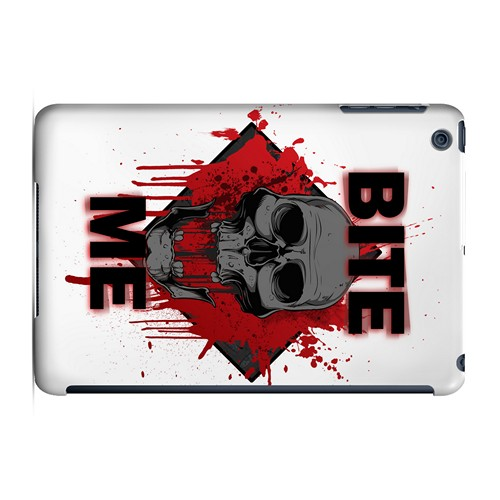 Bite Me on White - Geeks Designer Line Apocalyptic Series Hard Case for Apple iPad Mini