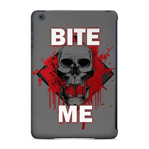 Bite Me on Gray - Geeks Designer Line Apocalyptic Series Hard Case for Apple iPad Mini