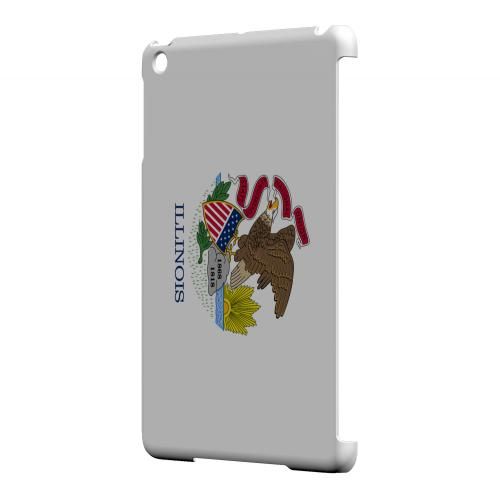 Illinois - Geeks Designer Line Flag Series Hard Back Case for Apple iPad Mini