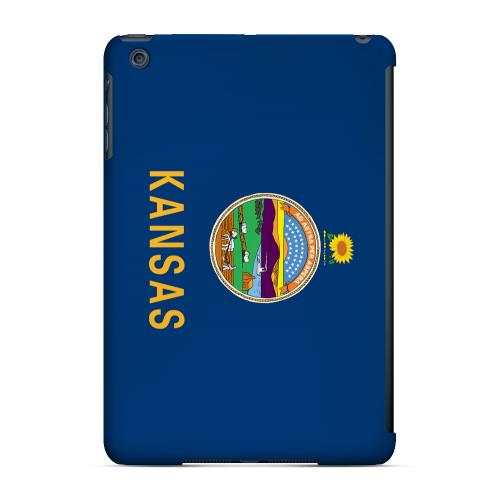 Kansas - Geeks Designer Line Flag Series Hard Back Case for Apple iPad Mini