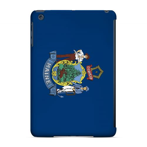 Maine - Geeks Designer Line Flag Series Hard Back Case for Apple iPad Mini
