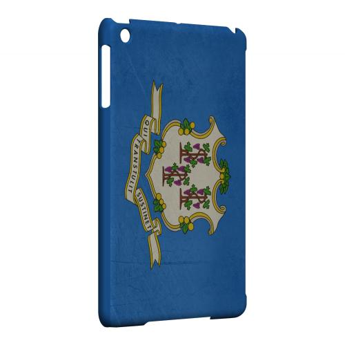 Grunge Connecticut - Geeks Designer Line Flag Series Hard Case for Apple iPad Mini
