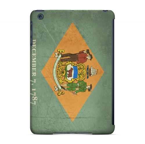 Grunge Delaware - Geeks Designer Line Flag Series Hard Case for Apple iPad Mini