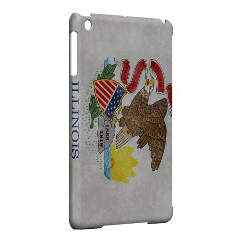 Grunge Illinois - Geeks Designer Line Flag Series Hard Case for Apple iPad Mini