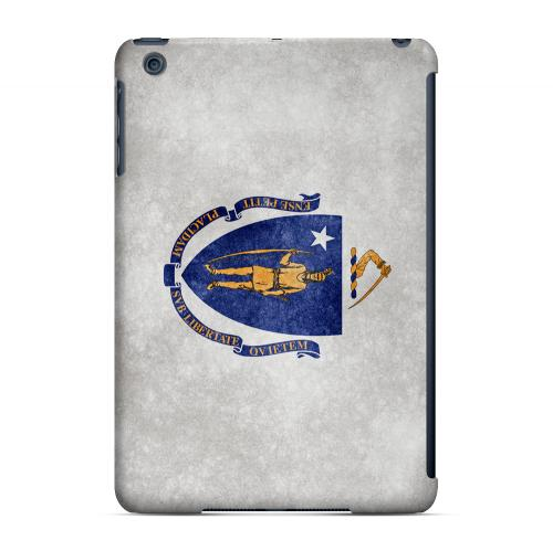 Grunge Massachusetts - Geeks Designer Line Flag Series Hard Case for Apple iPad Mini
