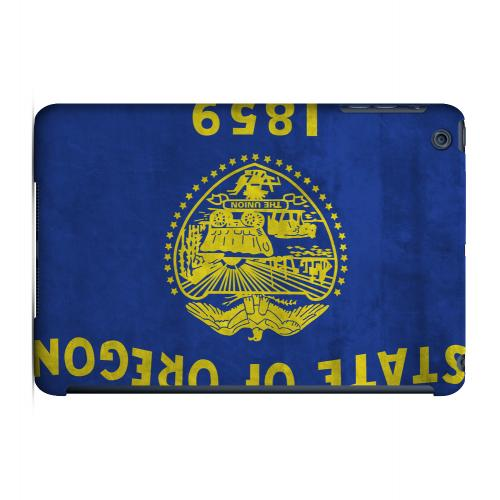 Grunge Oregon - Geeks Designer Line Flag Series Hard Case for Apple iPad Mini