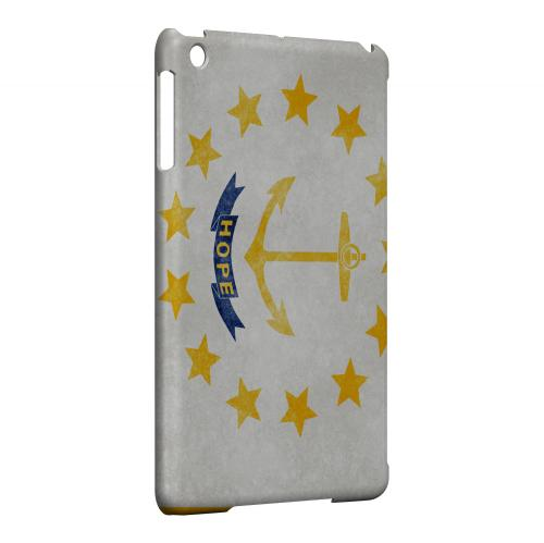 Grunge Rhode Island - Geeks Designer Line Flag Series Hard Case for Apple iPad Mini