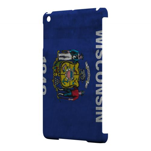 Grunge Wisconsin - Geeks Designer Line Flag Series Hard Case for Apple iPad Mini