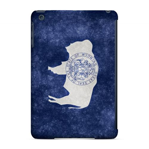 Grunge Wyoming - Geeks Designer Line Flag Series Hard Case for Apple iPad Mini