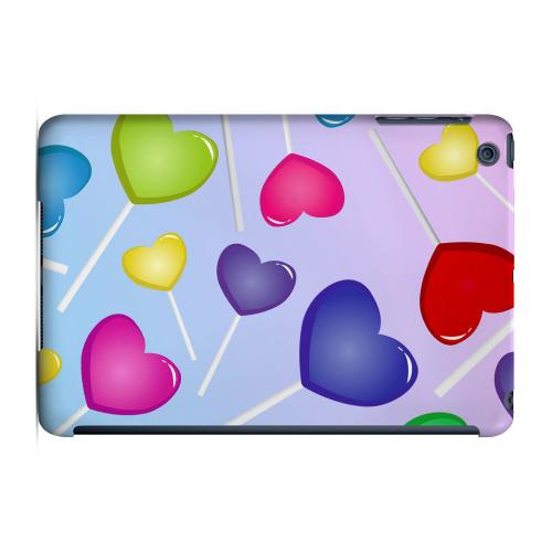 Geeks Designer Line (GDL) Slim Hard Case for Apple iPad Mini - Assorted Heart Lollipops