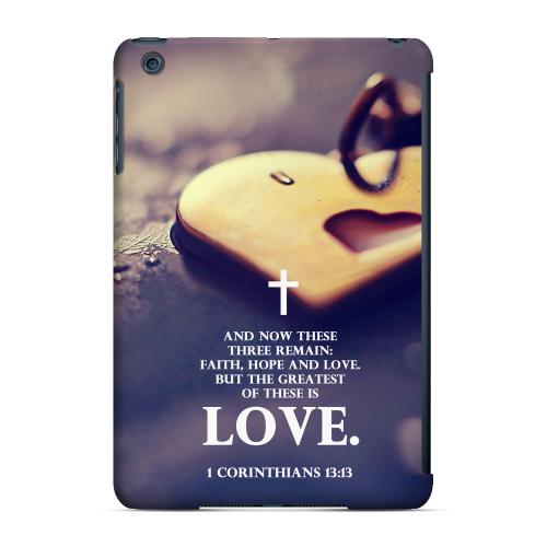 Geeks Designer Line (GDL) Slim Hard Case for Apple iPad Mini - Corinthians 13:13