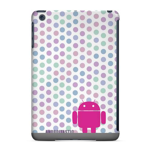 Geeks Designer Line (GDL) Slim Hard Case for Apple iPad Mini - Pink Robot on Pastel Polka Dots