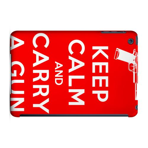 Geeks Designer Line (GDL) Slim Hard Case for Apple iPad Mini - Red Carry A Gun