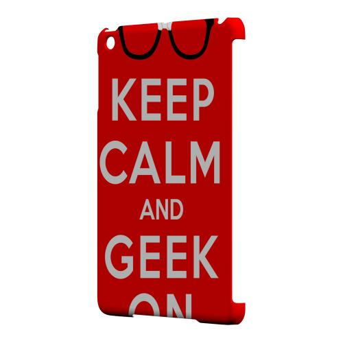 Geeks Designer Line (GDL) Slim Hard Case for Apple iPad Mini - Red Geek On