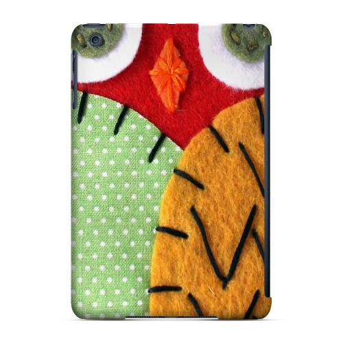 Geeks Designer Line (GDL) Slim Hard Case for Apple iPad Mini - Red/ Orange Owl