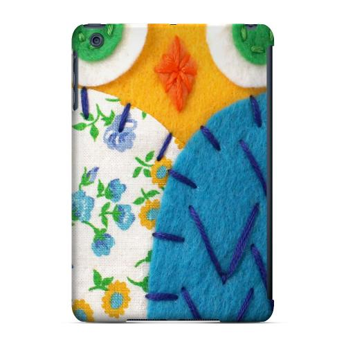 Geeks Designer Line (GDL) Slim Hard Case for Apple iPad Mini - Gold/ Blue Owl