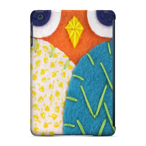 Geeks Designer Line (GDL) Slim Hard Case for Apple iPad Mini - Orange/ Blue Owl