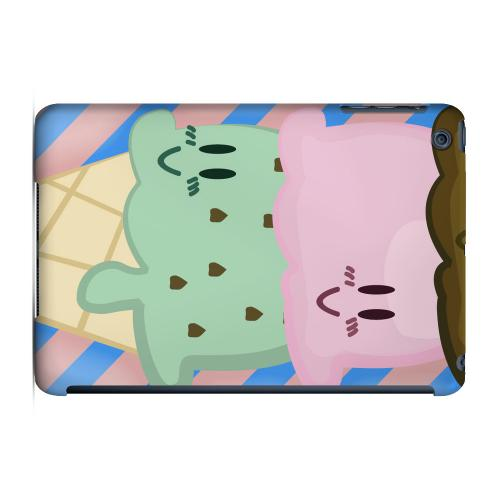 Geeks Designer Line (GDL) Slim Hard Case for Apple iPad Mini - Triple Scoop Ice Cream Cone