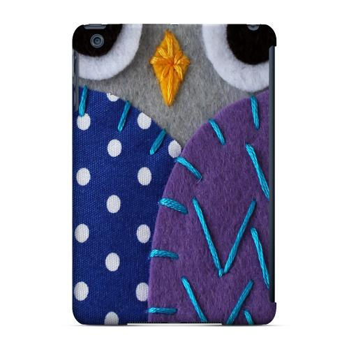 Geeks Designer Line (GDL) Slim Hard Case for Apple iPad Mini - Gray/ Purple Owl