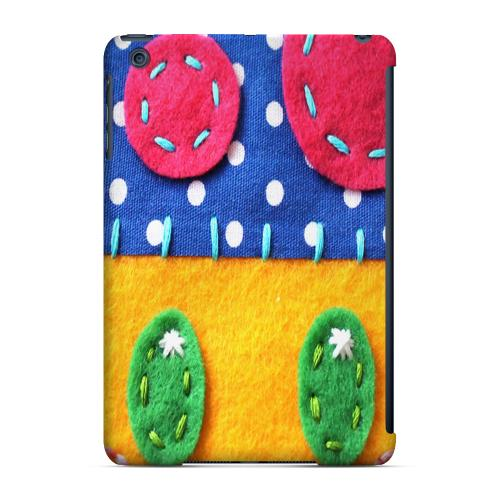 Geeks Designer Line (GDL) Slim Hard Case for Apple iPad Mini - Blue/ Yellow Mushroom