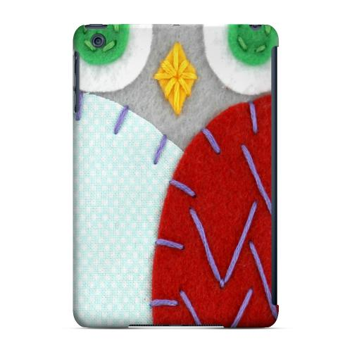 Geeks Designer Line (GDL) Slim Hard Case for Apple iPad Mini - Gray/ Red Owl