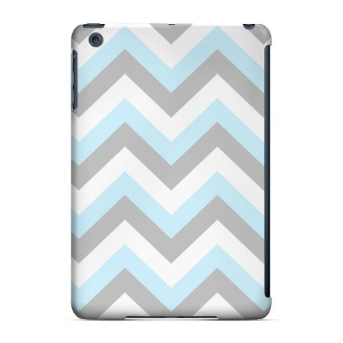 Geeks Designer Line (GDL) Slim Hard Case for Apple iPad Mini - Blue on Gray on White
