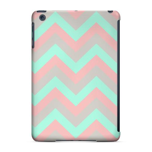 Geeks Designer Line (GDL) Slim Hard Case for Apple iPad Mini - Green on Pink on Gray