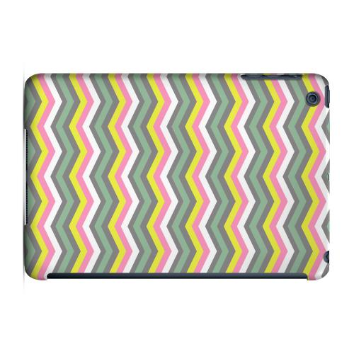 Geeks Designer Line (GDL) Slim Hard Case for Apple iPad Mini - Green/ Yellow Dots w/ Pink & Gray