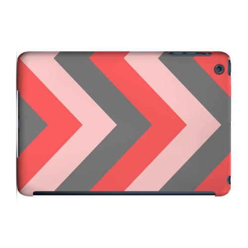 Geeks Designer Line (GDL) Slim Hard Case for Apple iPad Mini - Red on Gray on Pink