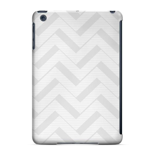 Geeks Designer Line (GDL) Slim Hard Case for Apple iPad Mini - Light Gray/ White 3D