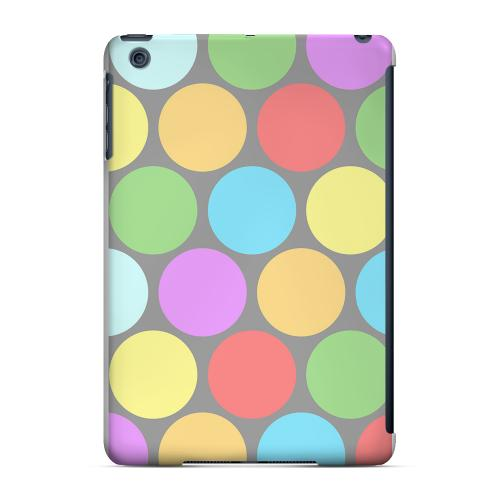 Geeks Designer Line (GDL) Slim Hard Case for Apple iPad Mini - Big & Rainbow on Gray