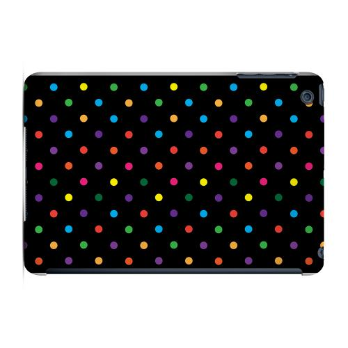 Geeks Designer Line (GDL) Slim Hard Case for Apple iPad Mini - Small & Rainbow on Black