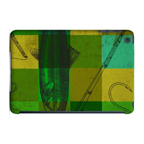 Geeks Designer Line (GDL) Slim Hard Case for Apple iPad Mini - Green Plaid Trout Design