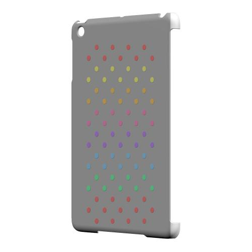 Geeks Designer Line (GDL) Slim Hard Case for Apple iPad Mini - Rainbow Dots on Gray