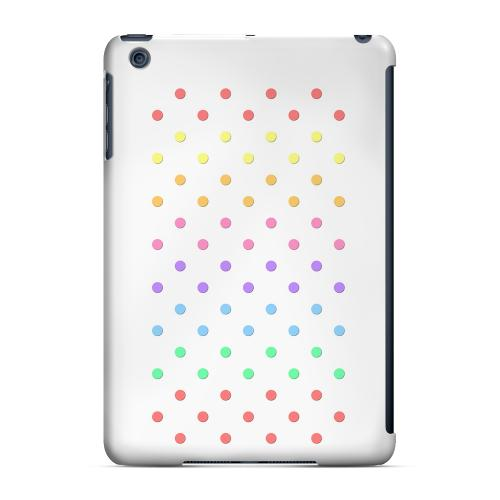 Geeks Designer Line (GDL) Slim Hard Case for Apple iPad Mini - Rainbow Dots on White