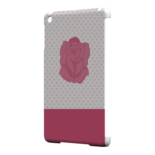 Geeks Designer Line (GDL) Slim Hard Case for Apple iPad Mini - Pink Rose on White