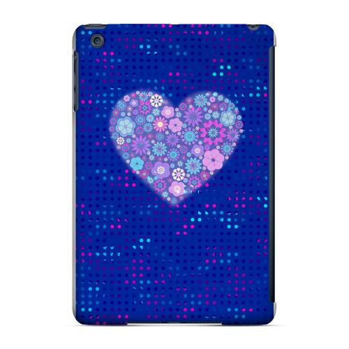 Geeks Designer Line (GDL) Slim Hard Case for Apple iPad Mini - Shimmer Blue Dots & Heart
