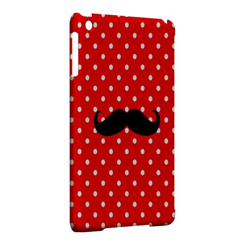 Geeks Designer Line (GDL) Slim Hard Case for Apple iPad Mini - Stache on Red
