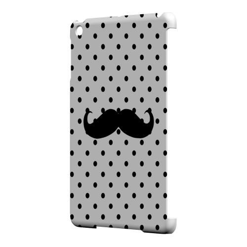Geeks Designer Line (GDL) Slim Hard Case for Apple iPad Mini - Stache on White